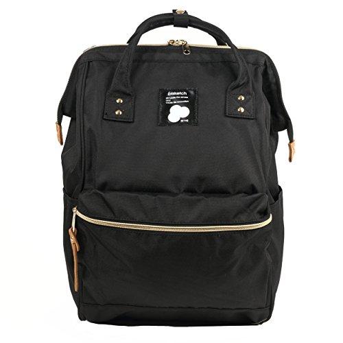 [ビスケッチ]bisketch 2way リュックサック 大容量 デイパック 大学生 高校生 通学 通勤 マザーズバッグ ブラック
