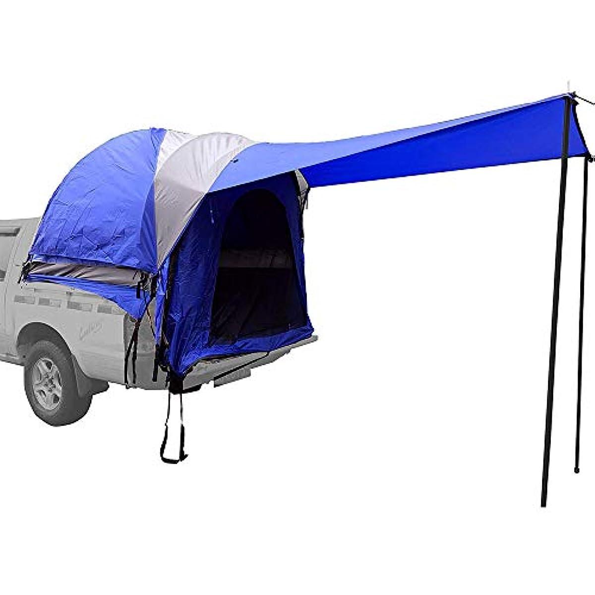麻酔薬遊び場公式ルーフカーテント - 防水ダブルデッキラージスペーストラックテールゲートテント長さ5.5-6.7フィートのトラックに適しています適用可能な数2-4人