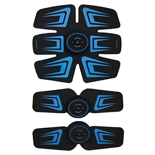EMS腹筋ベルト USB充電式 腹筋トレーニング フィットネスマシン ダイエ...