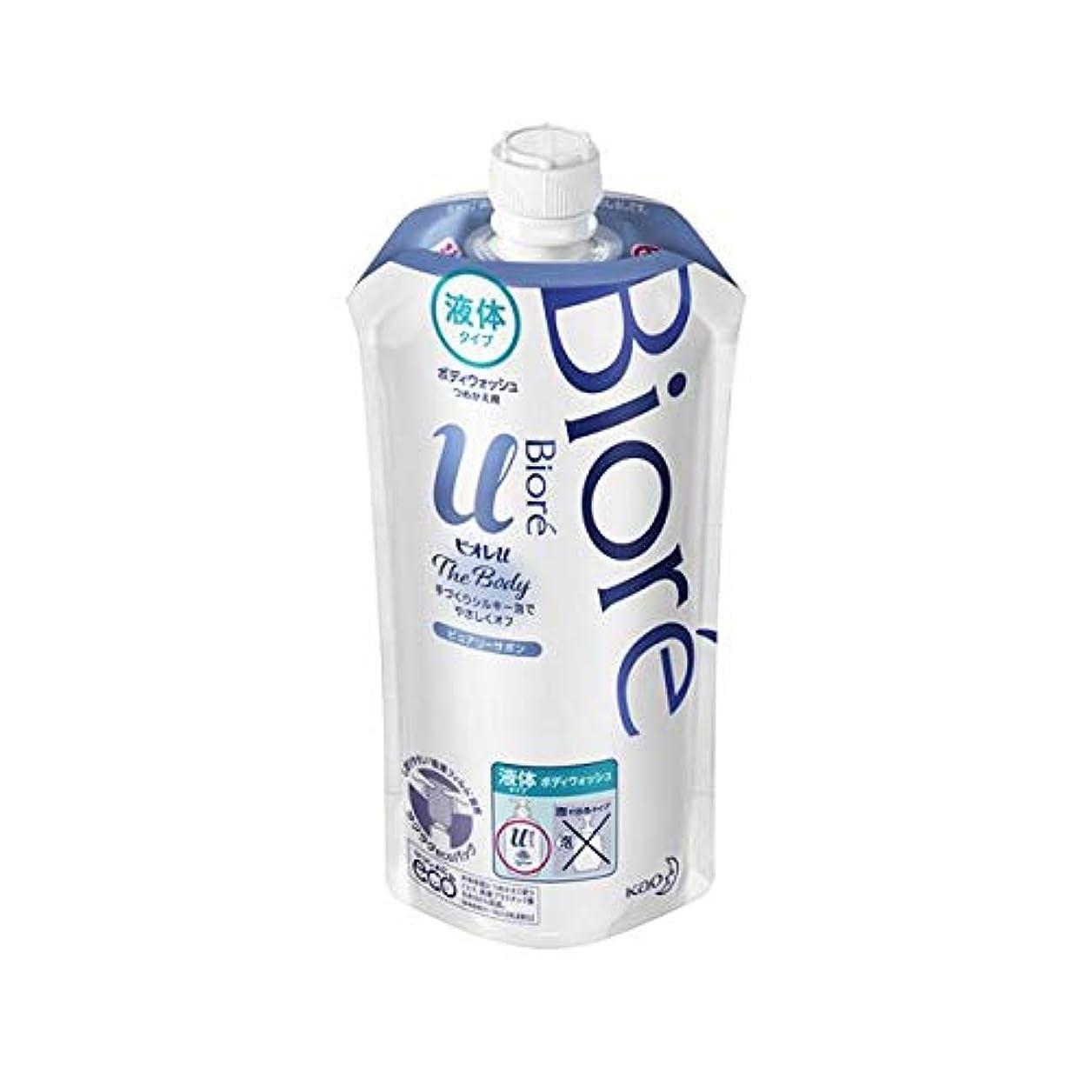 暴露する眠るカイウス花王 ビオレu ザ ボディ液体ピュアリーサボンの香り 詰替え用 340ml