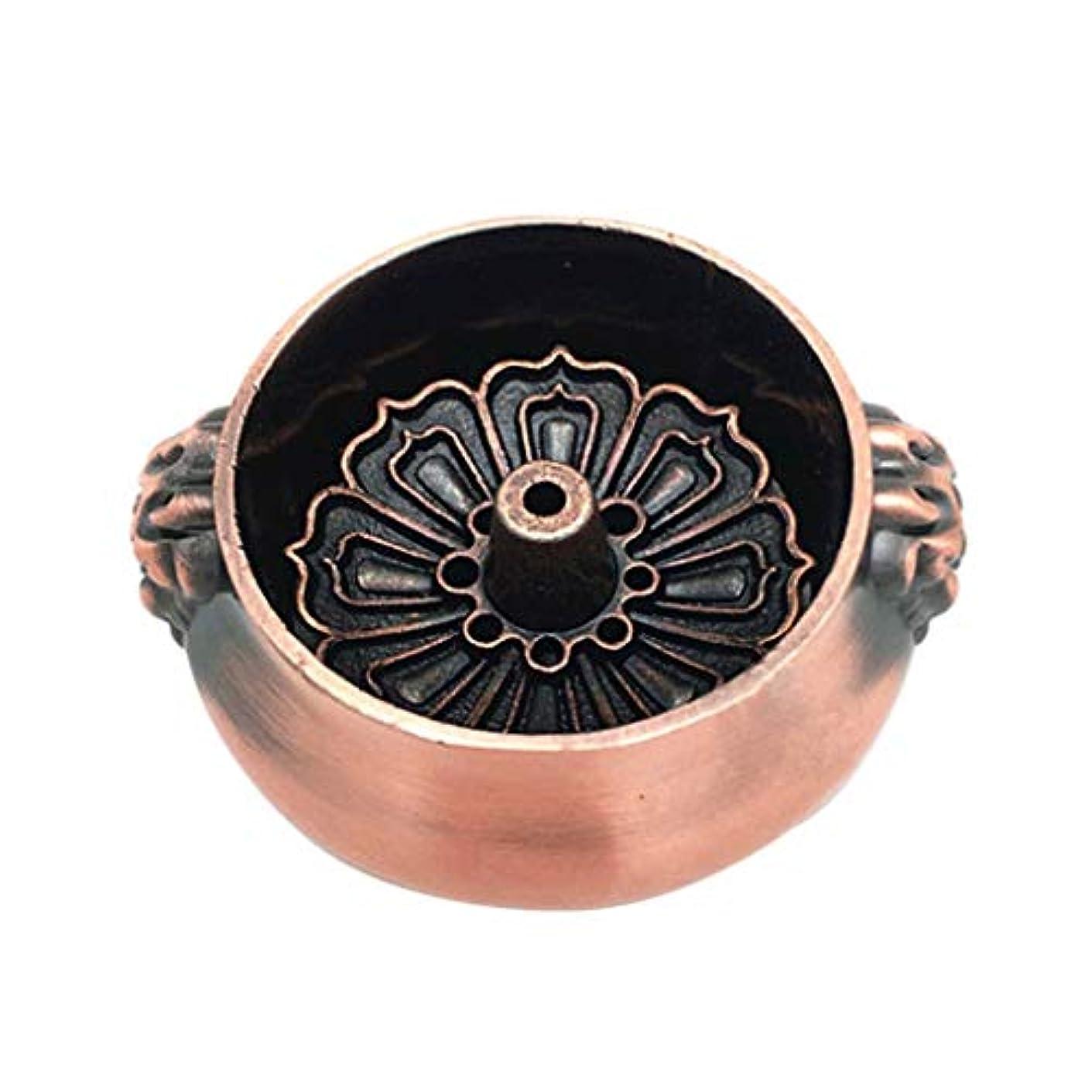 一時的ピットアメリカアンティーク合金銅香バーナースティックライン香コイルロータス形状香クリエイティブホームデコレーション香ホルダー (Color : Brass, サイズ : 2.36*1.06inchs)