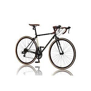 CANOVER(カノーバー) クラシック ロードバイク 700C シマノ14段変速 CAR-013 (ORPHEUS) クロモリフレーム フロントLEDライト付 ブラック