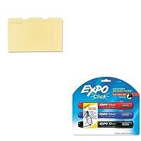 kitsan1741919unv12113–Valueキット–Expo Click Dry Eraseマーカー( san1741919)とユニバーサルファイルフォルダ( unv12113)