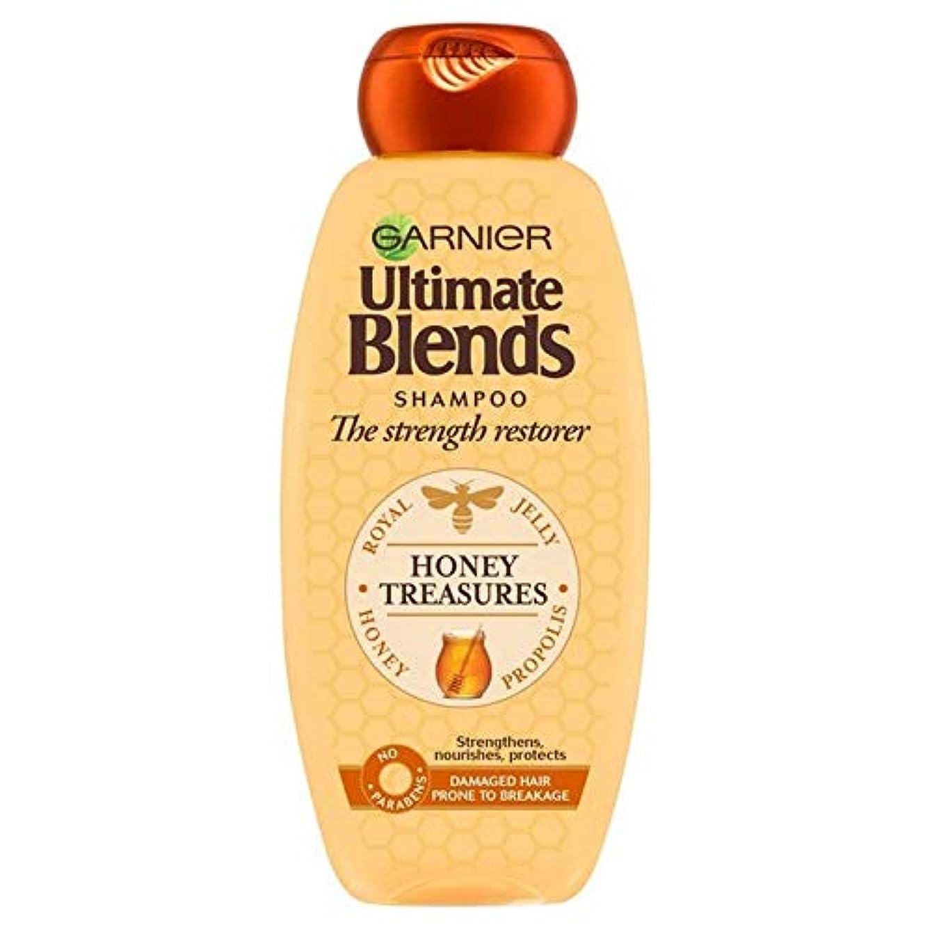 放つ起業家ペパーミント[Garnier ] ガルニエ究極の蜂蜜強化シャンプー360ミリリットルをブレンド - Garnier Ultimate Blends Honey Strengthening Shampoo 360ml [並行輸入品]
