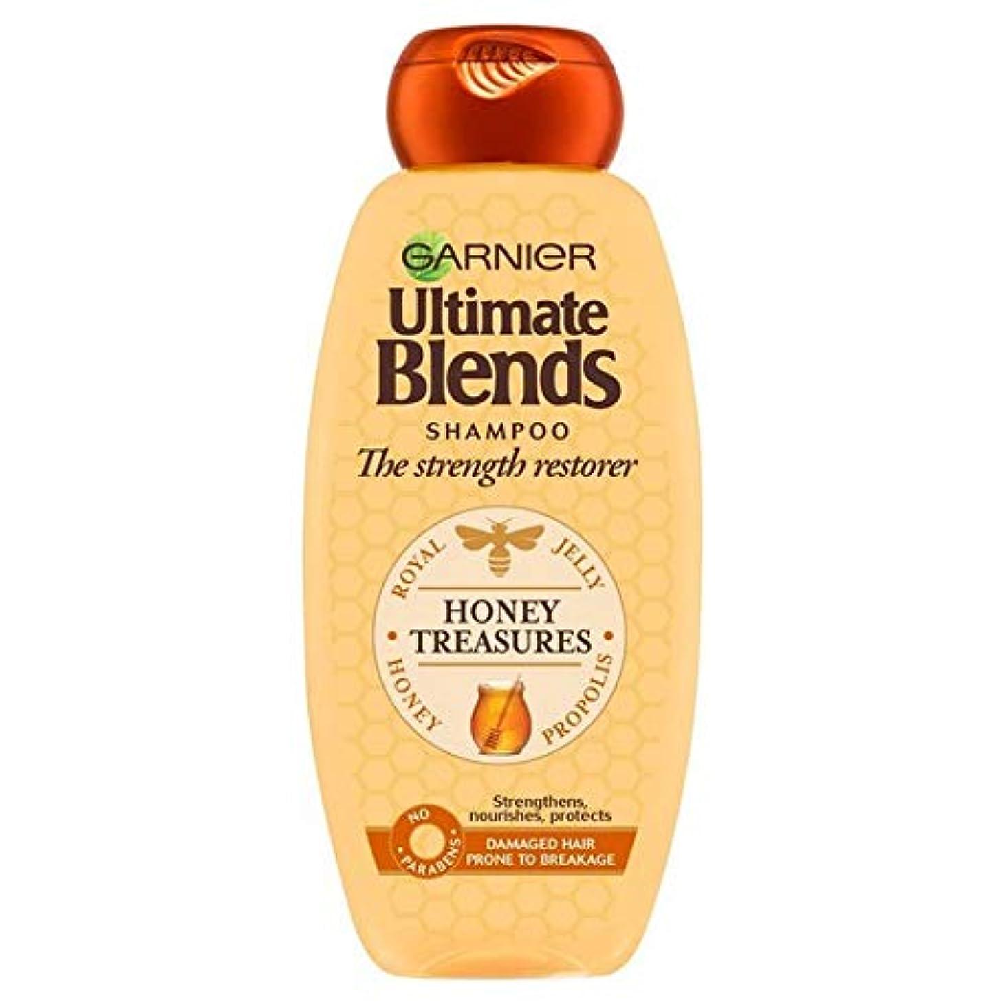 マッサージ狂う現金[Garnier ] ガルニエ究極の蜂蜜強化シャンプー360ミリリットルをブレンド - Garnier Ultimate Blends Honey Strengthening Shampoo 360ml [並行輸入品]