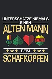 Schafkopfen Kartenspiel Notizbuch: 120 Seiten Liniert - Schafkopfer Bayern Oesterreich Spielkarten Stammtisch