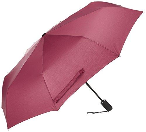 (アドンルル)adunlulu[2017年改善型] 折り畳み傘 ワンタッチ自動開閉 8本骨 耐風撥水 晴雨兼用 収納ケース付き折りたたみ傘 紳士 Red