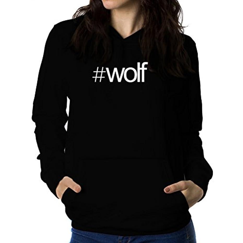 制限腐敗デコードするHashtag Wolf 女性 フーディー