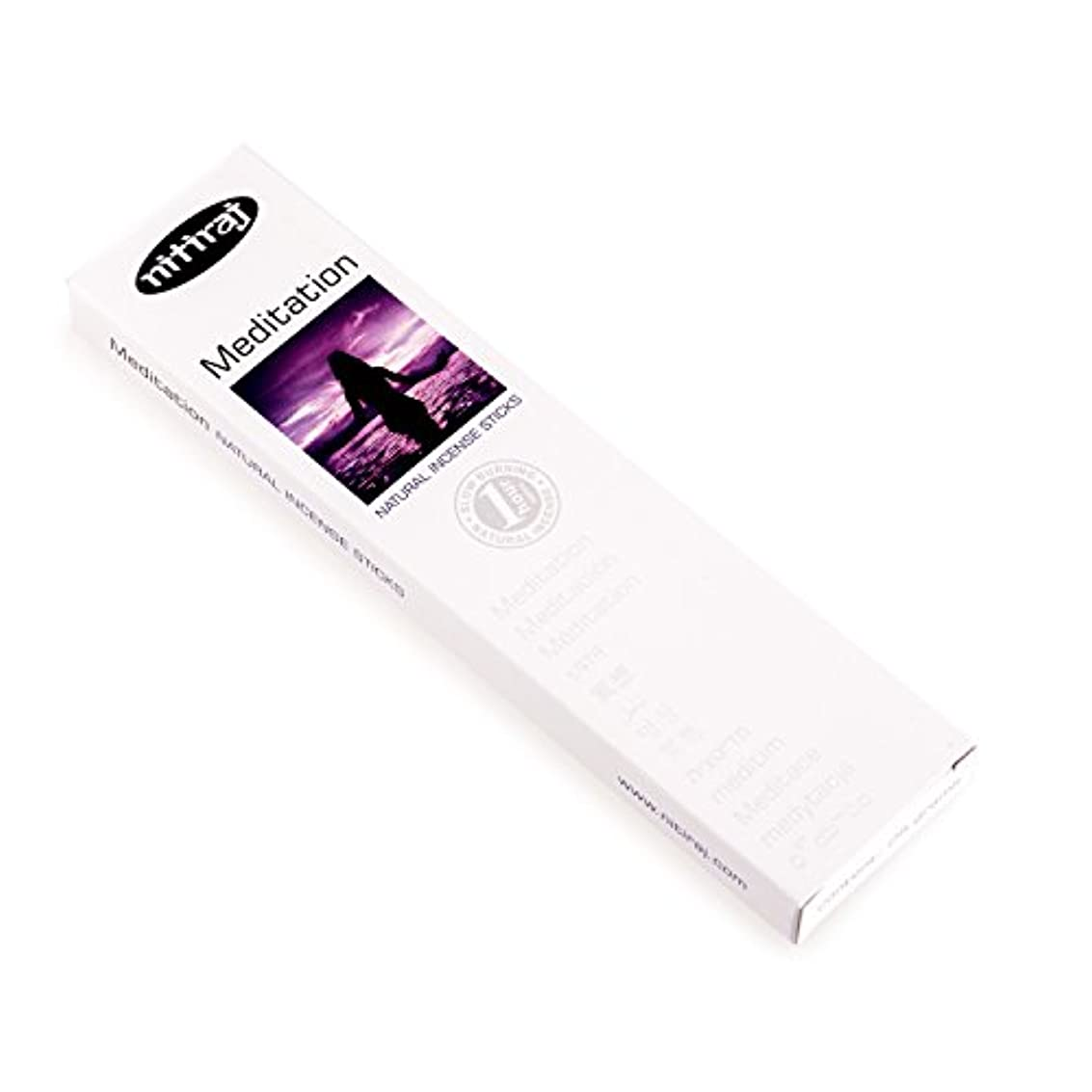 有用天皇読者Nitirajプレミアム瞑想自然Incense Sticks 25グラム