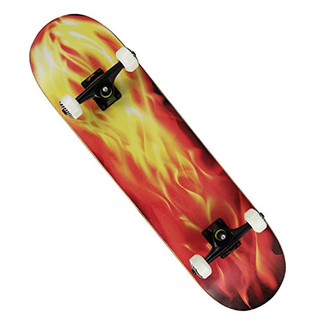 パッケージ遠征世界の窓Chaokele Freestyle Double Kick Concave Deck Pro Skateboard Fire