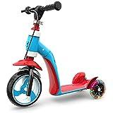子供のスクーター3-6は子供の赤ん坊のスライドカー多機能1-2-3歳の三輪フラッシュバランス車の安全補助ハンドブレーキを座ることができます