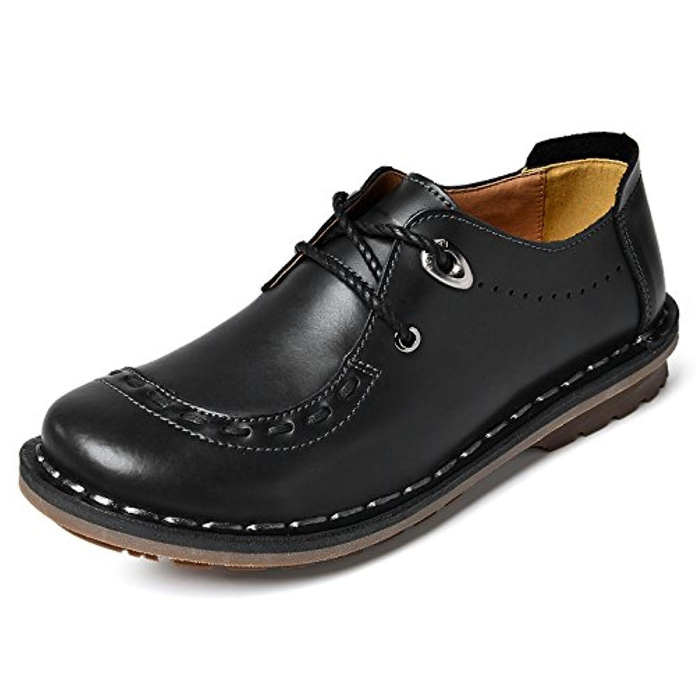 提供農学拘束するiEMOY メンズ 手作り カジュアルシューズ デッキシューズ 革靴 ローカット ワークブーツ オックスフォードの靴 カジュアルシューズ ファッションスニーカー レースアップシューズ 通勤用 防滑