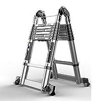 ZR 折り畳み梯子, エクステンションラダー、家庭用ヘリンボーンラダー、折りたたみラダーアルミフレームラダー、多機能ラダー アウトドア伸縮はしご (サイズ さいず : 2.04m+2.04m=4m(13.12 ft))