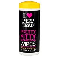 Pet Head Pretty Kitty Deshedding Wipes 50ct by Pet Head