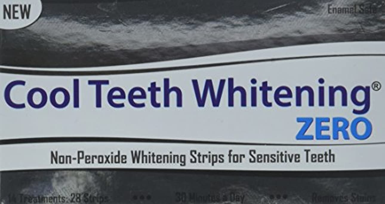 Cool Teeth Whitening Zero Peroxide Strips for Sensitive Teeth and Gums Whitener Band Kit 28 Pcs 14 Treatments...