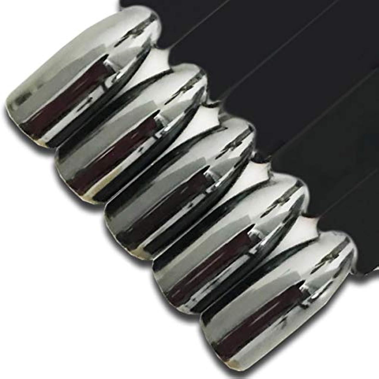 失う物理的に旋律的Quzama-JS おしゃれシルバーシルバーネイルデザイン新しい微塵微塵微粉美しい1クロム(None 1)