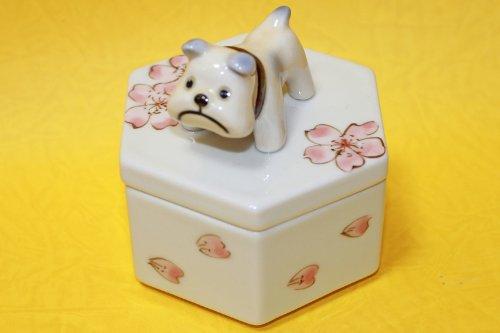 有田焼 犬用骨壷(分骨、ブル)手作り1点もの