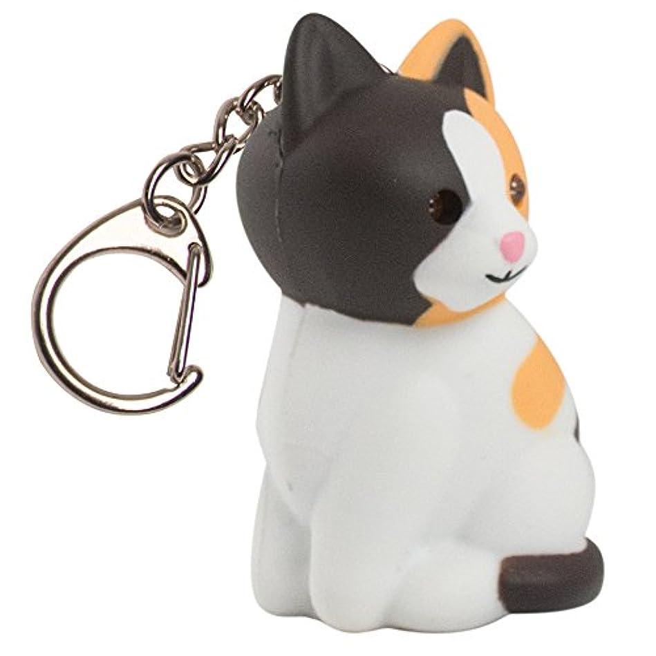 忠実ケニアペグNITEIZE(ナイトアイズ) KeyGear ミケ猫ライト 35449