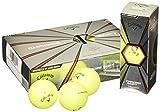 Callaway(キャロウェイ) ゴルフボール Chrome Soft X 2017年モデル 並行輸入品 4ピース 1ダース イエロー