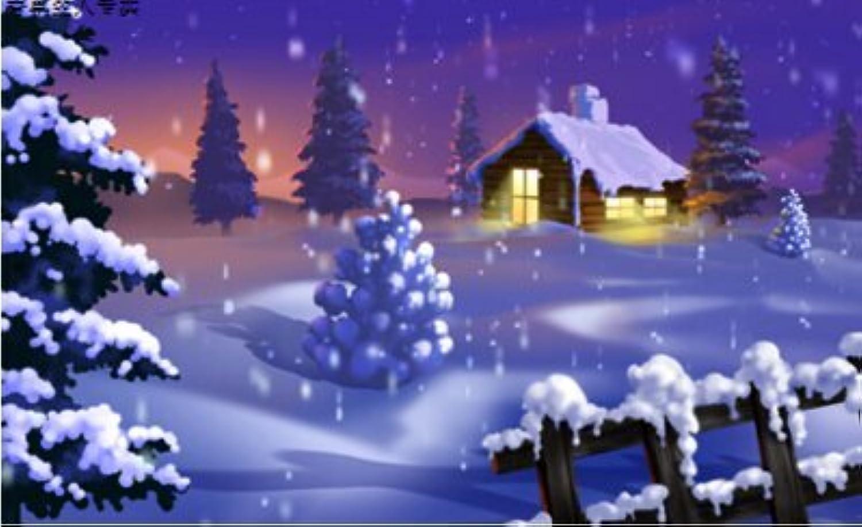 Qihu's 5d Crystal Diamond Painting DIY Counted Paint By Number Kits, Snow Landscape Scenery Christmas Eve by Qihu [並行輸入品]