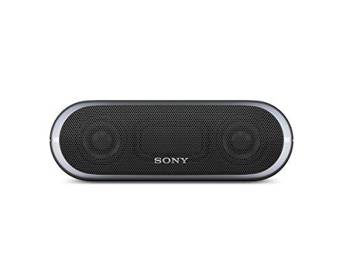 ソニー SONY ワイヤレスポータブルスピーカー 重低音モデル SRS-XB20 : 防水/Bluetooth/LDAC/NFC対応 ライティング機能搭載 ブラック SRS-XB20 B