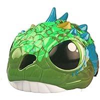 Osize 子供スポーツスポーツヘルメット漫画3D漫画恐竜自転車ハード帽子(グリーン)