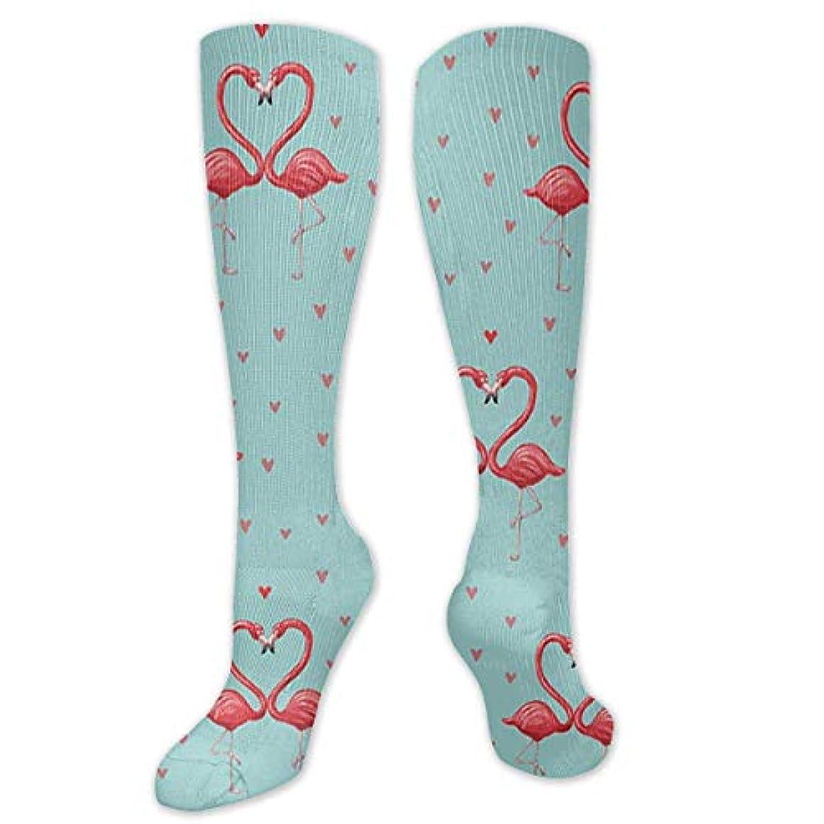 褐色推定飲食店靴下,ストッキング,野生のジョーカー,実際,秋の本質,冬必須,サマーウェア&RBXAA Flamingos Pattern Socks Women's Winter Cotton Long Tube Socks Cotton...