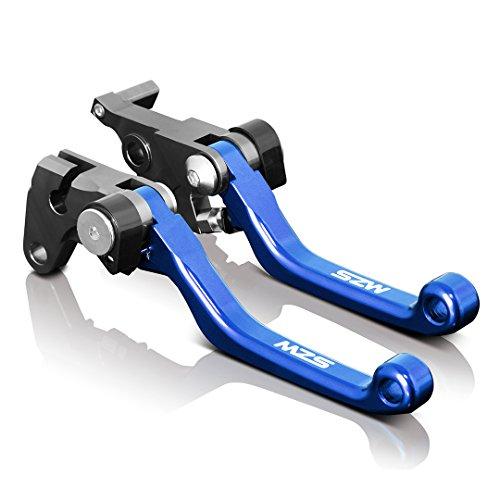 MZS ブレーキ クラッチ ショート レバー 用 カワサキ KX65 (00-17年) KX85 (01-17年) KX125 (00-05年) KX250 (00-04年) KX250F (04年) ブルー