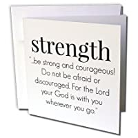 BrooklynMeme Sayings – 強度。Be Strong And – 勇気グリーティングカード Individual Greeting Card