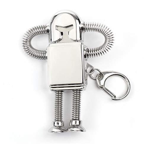 オモシロ ロボット USBメモリシルバー キーホルダー 16...