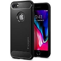 【Spigen】 スマホケース iPhone8 ケース / iPhone7 ケース 対応 TPU 米軍MIL規格取得 ラギッド・アーマー 042CS20441 (ブラック)