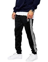 [アディダスオリジナルス] adidas Originals Superstar Cuffed Track Pants Black パンツ 黒 [並行輸入品]