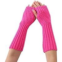 XueXian Womens Ladies Knitted Cold Weather Wrist Arm Warmer Fingerless Long Golves