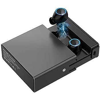 【2019最新版Bluetooth5.0 4000Mah 技術限界突破/超クリア音声通話 IPX7完全防水 130時間連続駆動】Bluetooth イヤホン 自動ペアリング EDR搭載 Hi-Fi高音質 3Dステレオサウンド AAC対応 音量調節 マイク内蔵 CVC8.0ノイズキャンセリング 軽量 Siri対応 完全ワイヤレス ブルートゥース イヤホン スポーツ 両耳 左右分離型 技適認証済 iPhone/ipad/Android対応 ブラック