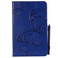 (For Samsung Galaxy Tab E 9.6 T560 (Not Fit 4G LTE)) Flip Wallet Case Cover and 360 Degree Full Body Protective Bumper Cover, Premium ウォレットケース Material - Blue