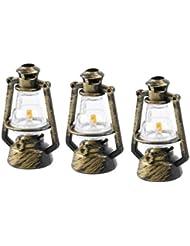 Healifty オイルランタンデスクトップ装飾レトロ灯油ランプ用ホーム寝室の装飾写真撮影の小道具6ピース