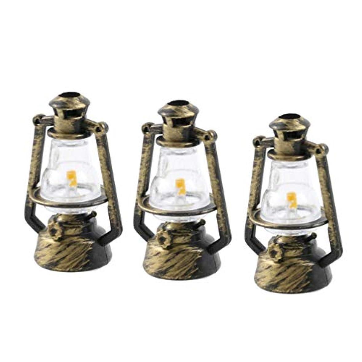 陰気ペイン限られたSUPVOX ホームドールハウス用6個のオイル燃焼ランタンウェディングライトテーブルランプ