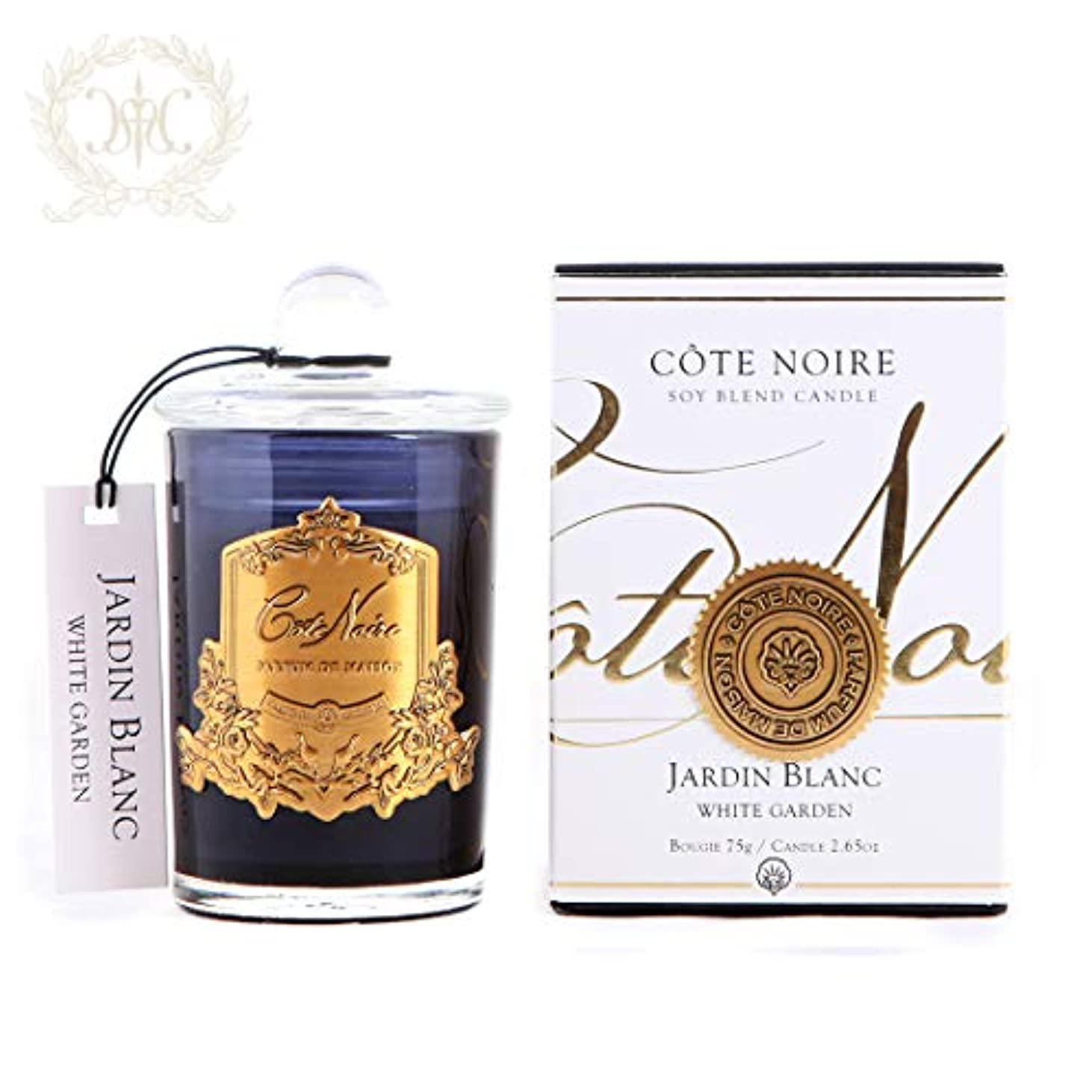 緯度致命的なパッチソイブレンドアロマキャンドル/ホワイトガーデン Cote Noire/コートノアール(イギリス)