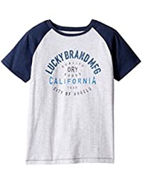 [ラッキーブランド] Lucky Brand Kids ボーイズ Dry Goods Raglan Tee w/ Short Sleeves (Big Kids) トップス [並行輸入品]
