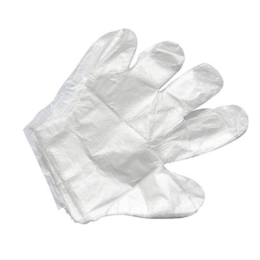カウンタ杖不安定使い捨て手袋バーベキューアクセサリー高度なキャスティング手袋使い捨てケータリングDIYクリーニングヘアダイ食品グレードプラスチック手袋(2000)透明のみ