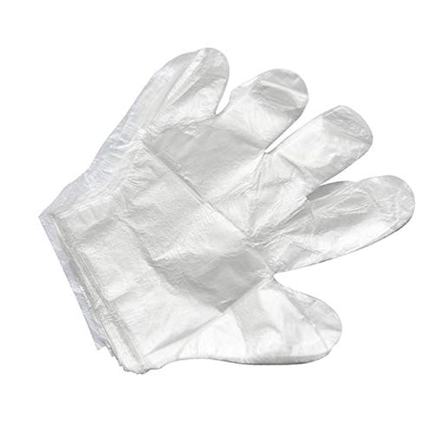 条件付きドレスなる使い捨て手袋バーベキューアクセサリー高度なキャスティング手袋使い捨てケータリングDIYクリーニングヘアダイ食品グレードプラスチック手袋(2000)透明のみ