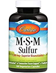 Carlson Labs, M?S?M Sulfur, 800 mg, 180 Capsules