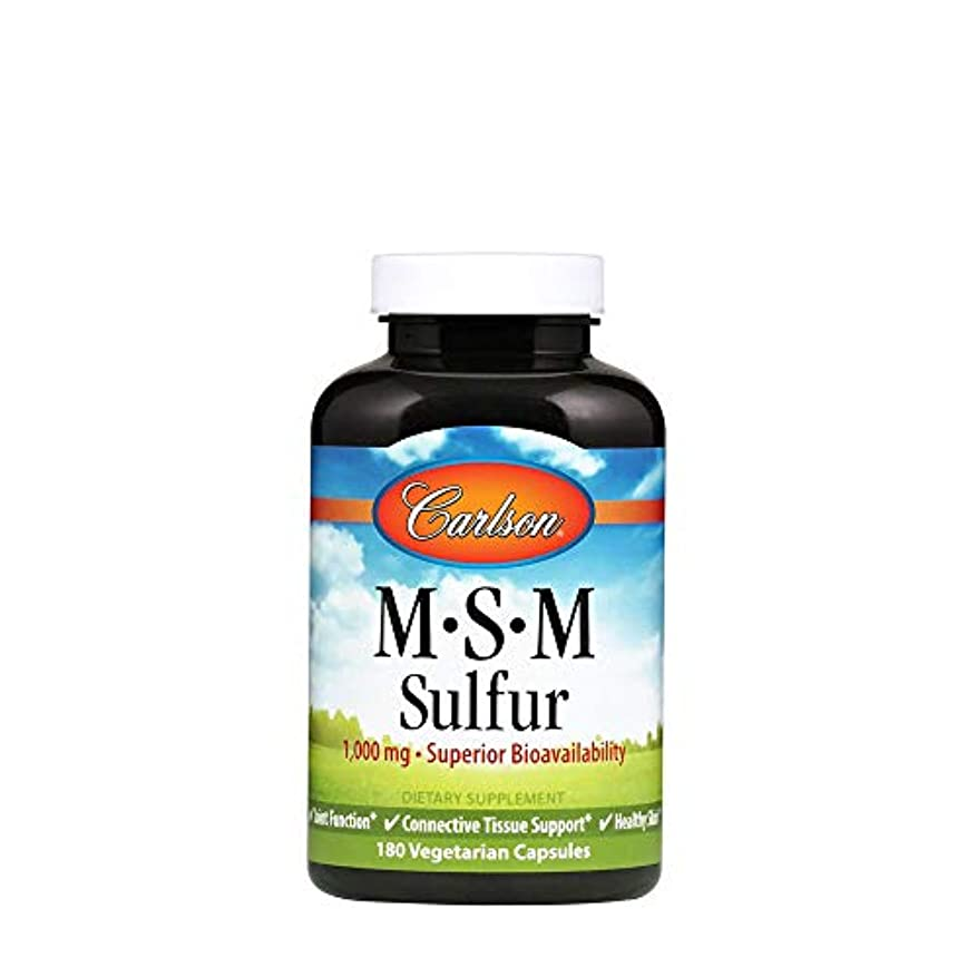 クルーそれぞれ好意Carlson Labs, M?S?M Sulfur, 800 mg, 180 Capsules