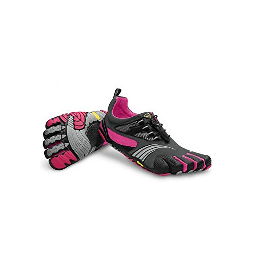 vibram fivefingers ビブラム ファイブフィンガーズ Women's KMD SPORT LS Grey Black Pink (W39(24.4cm), Grey Black Pink)