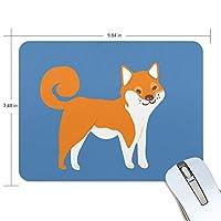 Jiemeil マウスパッド 高級感 おしゃれ 滑り止め PC かっこいい かわいい プレゼント ラップトップ MacBook pro/DELL/HP/SAMSUNG などに 柴犬 かわいい