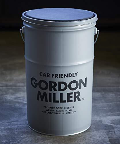 RoomClip商品情報 - GORDON MILLER ペール缶スツール 27l チェア 椅子 スタッキング アウトドア キャンプ 収納 ガレージ 洗車 ゴミ箱 クッション 蓋 スタンド グレー 1553425