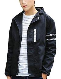 Fly Year-JP メンズスポーツウェアのレタープリントフード付きウインドブレーカーの屋外のウィンドプルーフジャケット