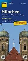 ADAC Stadtplan Muenchen 1 : 20 000: Mit Graefelfing, Gruenwald, Planegg, Unterfoehring. Stadtinfo & Register: Umgebungskarte. Cityplan. Cityguide. Strassenregister mit Postleitzahlen. Stadtplan: GPS-genau