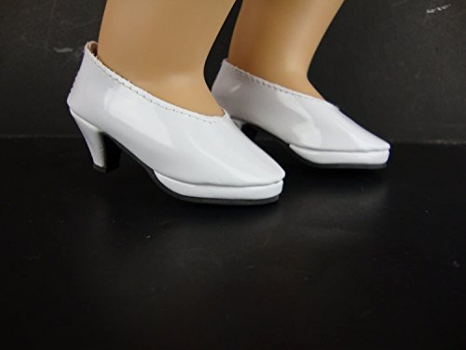 Shiny White High Heeled Shoes for the 18インチ人形Made for the American Girl Doll by Olivia 's Doll Closet