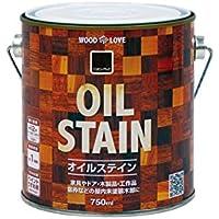 ニッペホームプロダクツ:WOOD LOVE オイルステイン 木部用着色塗料 Sエボニーブラック 750ML